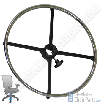"""20"""" chrome office chair foot ring - $44.99"""